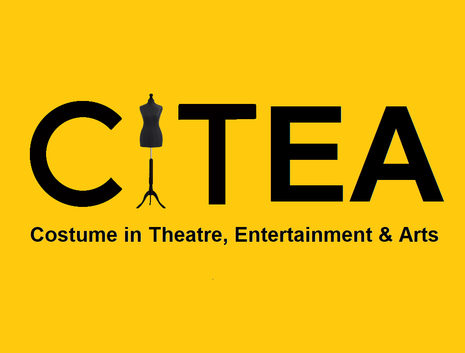 Costume in Theatre Entertainment Arts logo - black text on yellow square